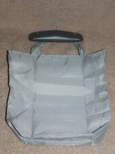 Issey Miyake Light Gray 100% Nylon BAG POUCH Multi Use Rubber Handle New