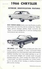 1966 Chrysler 300 New Yorker Newport Salesman's po2614-QLG8TP