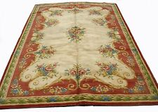 A Nice Savonnerie Style French Rug with Bouquet of Roses