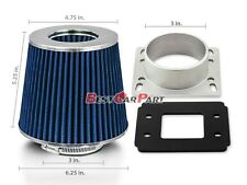 86-91 Toyota Corolla AE86 Camry Intake Adapter +BLUE Filter