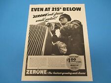 1937 Zerone -The fastest-growing anti-freeze, Made by DuPont, Print Ad PA011