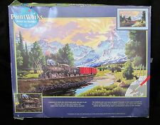 "Dimensions Paint Works Paint by Number Kit ""Northern Rails"" #91096 20"" x 12"""