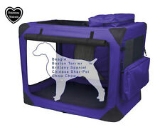 VALENTINA VALENTTI PET FOLDING CARRIER TRANSPORT SOFT CRATE LARGE PURPLE V8