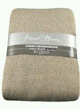 100% COTONE Spina di Pesce Design Naturale/Beige Divano a 3 POSTI, LETTO Buttare 225x250cm