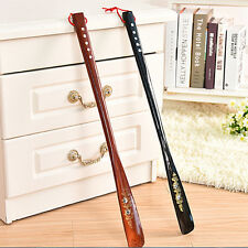 Flexible Long Handle Shoehorn Shoe Horn AID Stick Wooden 55cm KX16
