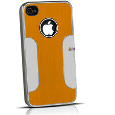 Luxury Brushed Aluminum Chrome Hard Case Cover For iPhone 4S 4 Protector