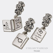 Authentic Pandora Sterling Silver Love Note Bead 791246