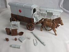 Classic Toy Soldiers/Marx Civil War brown Ambulance wagon accessories and driver