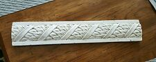 Decorative Listello Composite Tile Border Feature Strip Cream Vine Leaf 12 3/8""