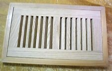 """Red Oak Wood Cold Air Return Register Floor Vent for 10"""" L x 4"""" W  Opening"""