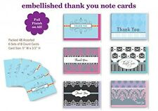 Assorted Thank You Appreciation Cards Bulk Blank Note Cards Set 48 Pack