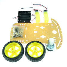 2WD Smart Robot Car Chassis Kits Speed Encoder Arduino 2 Gear Motor 1:48 Tools