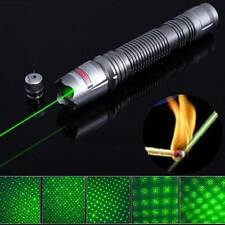Grigio 2000M Fuoco Green Laser Pointer Pen 532nm Burning + 0.5mW stella Testa