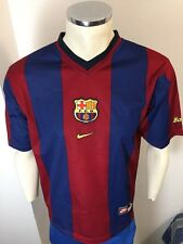 CAMISETA FC BARCELONA NIKE SHIRT RARE VINTAGE 1998 TALLA M