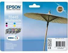 Epson T0445 SET OF 4 Original Ink Cartridges FOR C64 C66 C84 C86 CX3600 CX3650