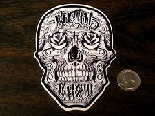 FATAL CREW Sugar Skull Sticker Car Window Decal West Coast Skate Tattoo So Cal