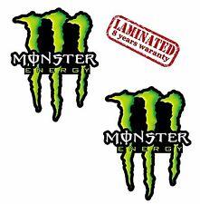 2 x Monster Vinyl Stickers Decal Motorcycle Bike Tuning Racing Rally Helmet Car
