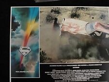 Superman Movie Posters (Lobby Card - 1978) Christopher Reeve - Car in Crevice