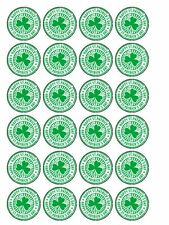 """30 x St Patrick's Day 1.5"""" PRE-CUT PREMIUM RICE PAPER Cake Toppers Decorations"""