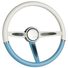 CUSTOM STEERING WHEEL, HOT ROD, CON2R, / Magic Blue & Simply White Split Pomona