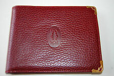 NEW CARTIER PARIS MUST DE CARTIER MEN'S BURGUNDY LEATHER WALLET