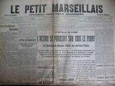 WW1 BATAILLE DE L'AISNE COMMUNIQUéS DéPêCHES LE PETIT MARSEILLAIS 18/9/1914