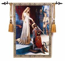 100% Cotton Medieval Knight Jacquard Woven Fine Tapestry Wall Hanging