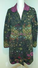 Ivko Woman Cardigan Sweater Coat W/ Pockets~Wool Boho~Sz 44~Handwritten Emotions