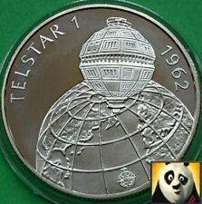 1992 HUNGARY 500 Forint Telestar 1 1962 Space Exploration Silver Proof Coin