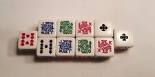 10 Six Sided Poker Dice Brand New W/O Dice Cup 05T