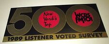 ORIGINAL WCBS-FM MUSIC RADIO NY TOP 500 OF ALL TIME OLDIES SURVEY 1989 Edition