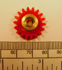 Gear - brass hub 4 mm bore 18 teeth - with grub screw