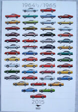 2015 Ford Mustang 50th Anniversary Poster - Special Dealer Promotional Item