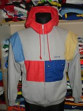 ADIDAS VINTAGE JACKET SIZE M 1980s MADE IN WEST GERMANY TRACKSUIT TOP (f497d)