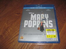 Mary Poppins: 50Th Anniversary Edition; Disney (Blu-Ray+DVD+Digital Copy) New