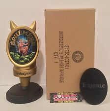 "Unibroue Brewery Devil Horns Beer Tap Handle 7"" Tall - Brand New In Box Rare!"