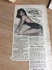 T1-6 Ephemera 1958 Article Actress Model Abbe Lane Beauty Secrets