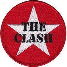 The Clash Star Logo iron-on / sew-on cloth patch  75mm x 75mm  (cv)