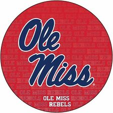 "MISSISSIPPI 4"" REPEAT DESIGN MANGET-MISSISSIPPI REBELS CAR MAGNET-NEW FOR 2016!"