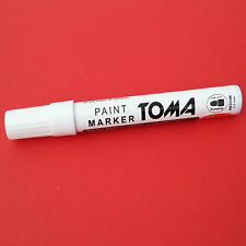 Permanent Waterproof Oil Based Paint Marker Pen Stone Metal Glass Opaque White