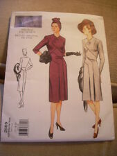 Vintage Vogue 2569 Sewing Dress Pattern Original 1943 Design Size 12-16 NEW