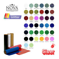 "NEW Siser EASYWEED GLITTER Heat Transfer Vinyl 20""X 12"" Choose From 39 COLORS"