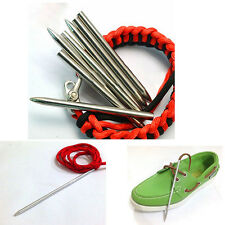 "3""Steel Paracord Needle With Screw Thread Shaft Tip Stiching Needle Fid"
