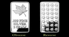Maple Leaf 999 Silver Silver bullion Fine silver NEW in Capsule 5 Gram RARITY