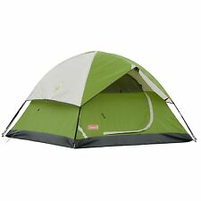 Coleman Tent Camping Hiking Sundome 4-Person Green Outdoor Adventure Waterproof