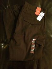 Nwt Levis Banded Cargo Slim Fit Tapered Leg Khaki Pants Men's 36 X 30 Brown }