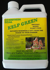 KELP GREEN Plant food by Southern Ag, (1 Quart) Organic, Free Shipping,