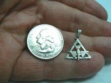 PRE-OWNED / VINTAGE STERLING SILVER HOLY GHOST DOVE IN THE TRINITY TRIANGLE