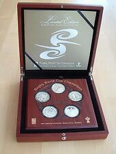 Rugby World Cup Champions Silver Proof Coin Set - 2011 New Zealand Post