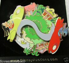 Disney Auctions Lilo & Stitch in Rocket Car Spinner Pin
